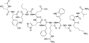 chemical structure of melanotan-I