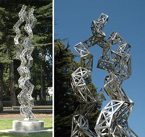 Julian Voss-Andreae's sculpture Unravelling Co...