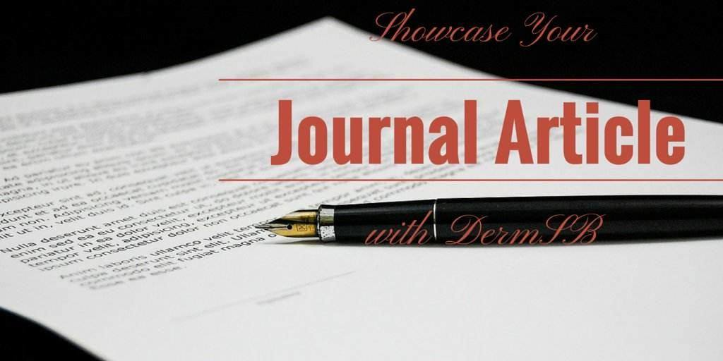 Showcase Your Journal Article on DermSB